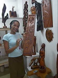 Melinda explains the connection between Jallim's art and the culture of St. Lucia
